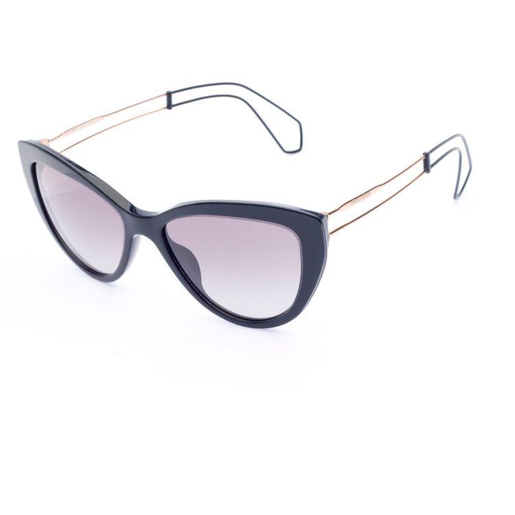 aec712aaaf91d Oculos de sol Miu Miu 12RS Preto Original - oticaswanny