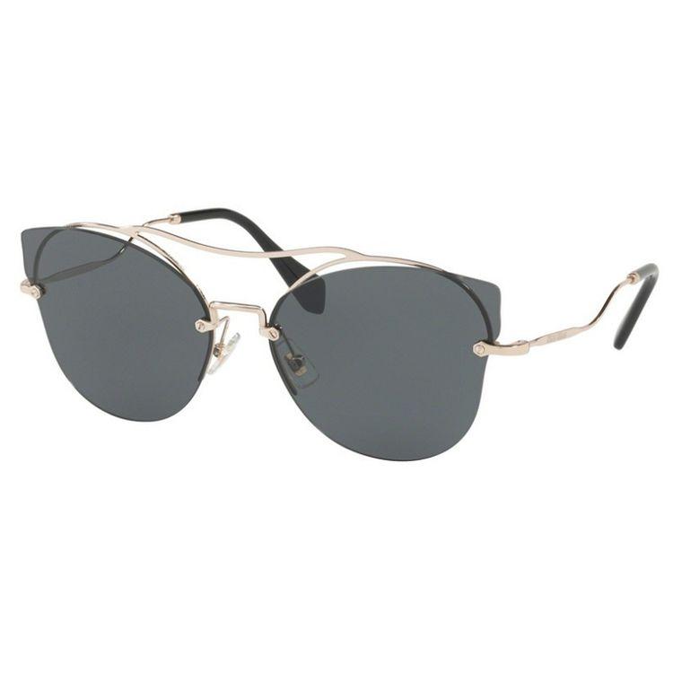 Oculos de sol Miu Miu 52S Scenique Cinza Original - oticaswanny 9efb19c234