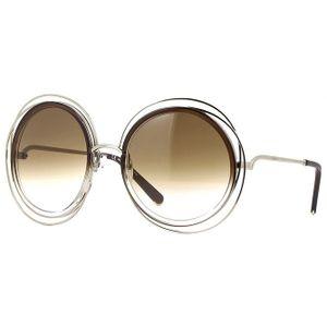 Oculos-de-sol-Chloe-Carlina-120S-Marrom-Degrade