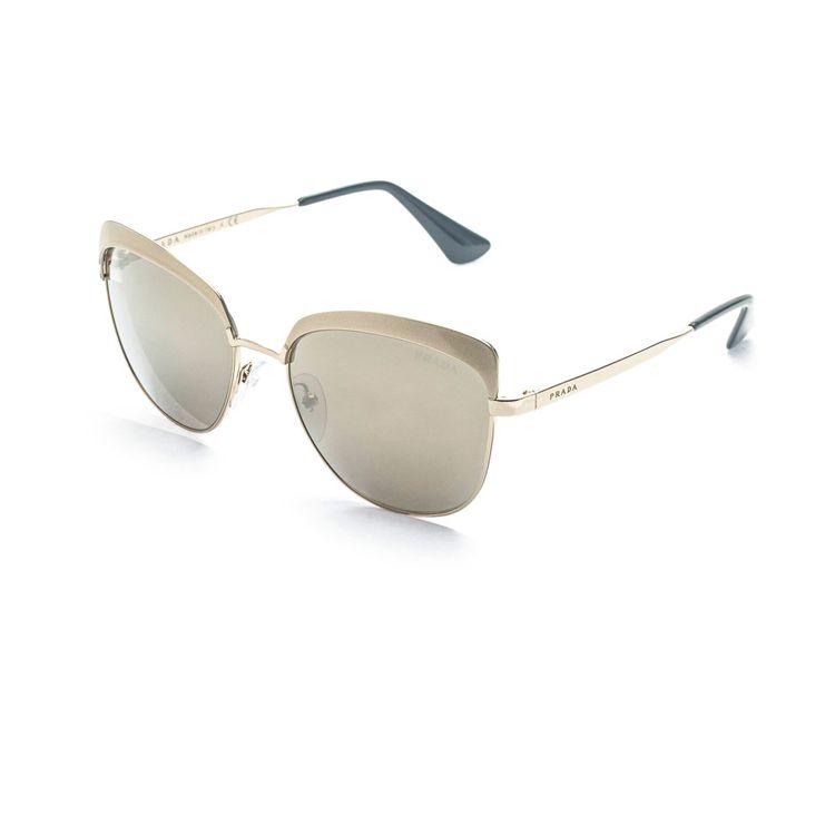 Oculos Prada Cinema Evolution 51TS Dourado Espelhado - oticaswanny 199bb43089