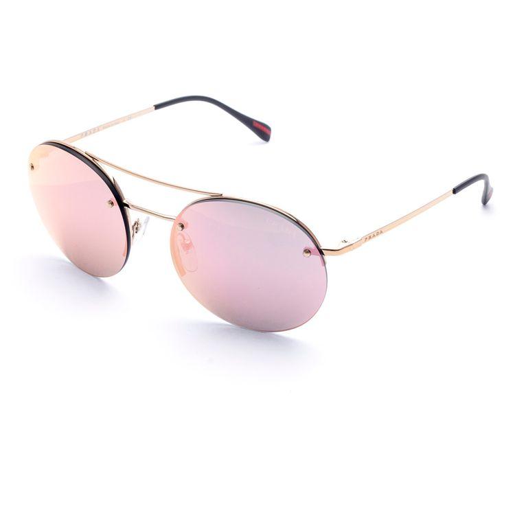 28334a1f2df04 Oculos Prada Sport 54RS Rose Espelhado - oticaswanny