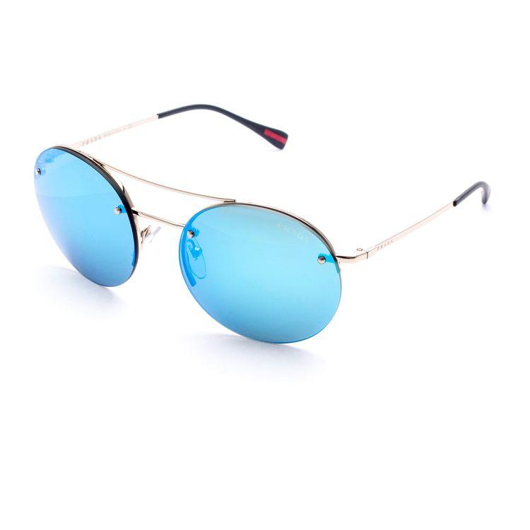 Oculos Prada Sport 54RS Azul Espelhado - oticaswanny 197542b011