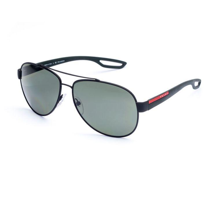 Oculos Aviador Prada Sport 55QS Preto Polarizado - oticaswanny e35b09fda6