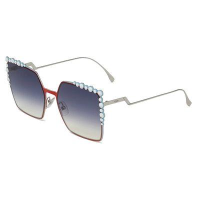 Oculos-de-sol-Fendi-Can-Eye-259-Vermelho-Azul