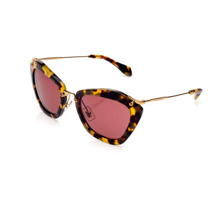 9a9443fa93b6d Oculos de sol Miu Miu 10NS Havana Vermelho Original - oticaswanny