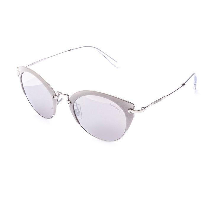 7ccfc965dfaf4 Oculos de sol Miu Miu 53R Prata Original - oticaswanny