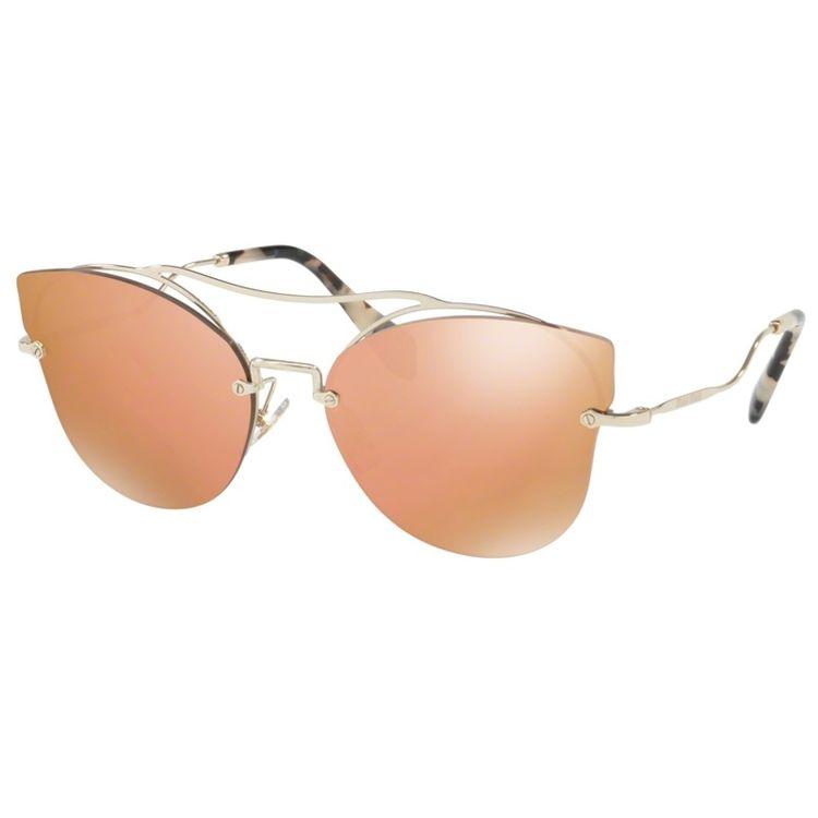 Oculos de sol Miu Miu 52S Laranja Espelhado Original - oticaswanny 7d7e8d01a7