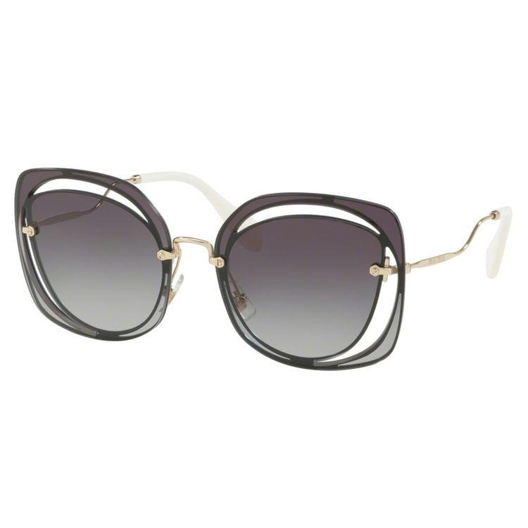 c13baa2e22b6d Oculos de sol Miu Miu 54S Scenique Preto Original - oticaswanny