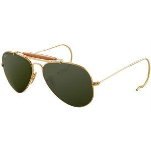 Oculos-de-sol-Ray-Ban-3030-Cacador-Dourado-Verde-1