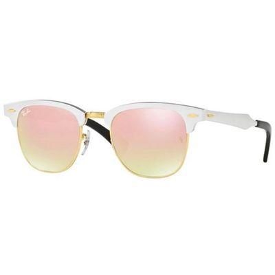 Oculos-de-sol-Ray-Ban-Clubmaster-Aluminium-3507-Rose