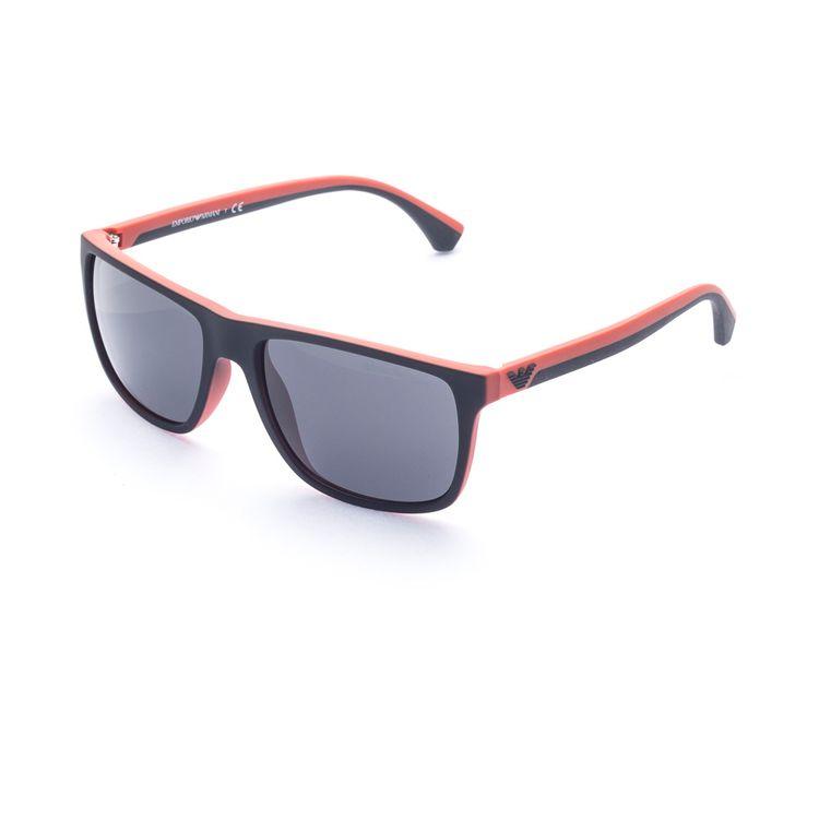 Oculos de sol Emporio Armani 4029 Preto Laranja Original - oticaswanny c308b06ea7