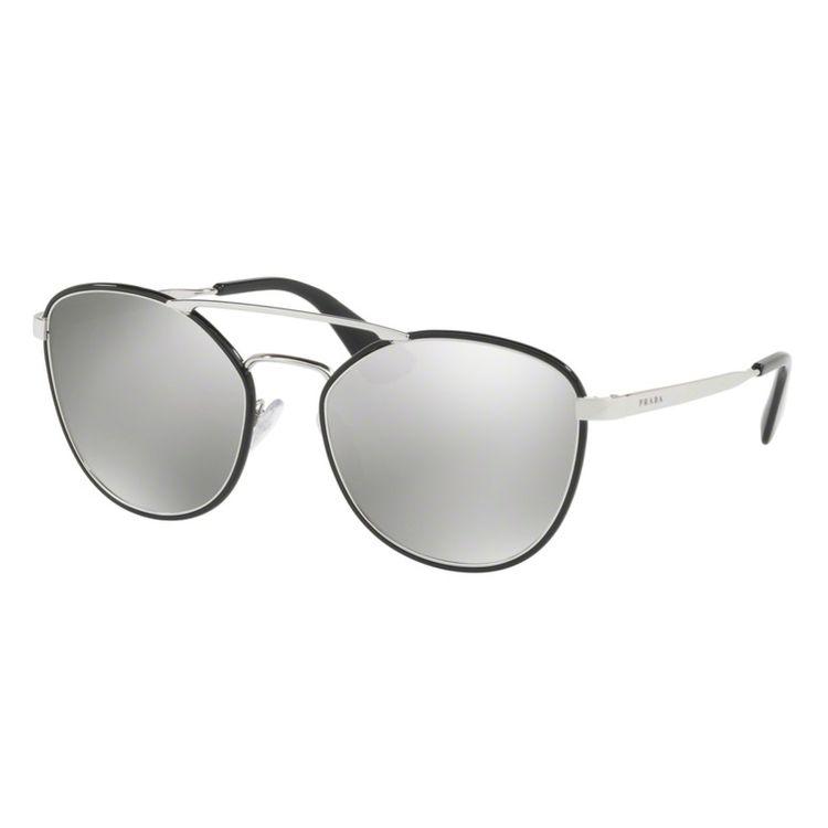 Oculos de sol Prada 63TS Espelhado Prata - oticaswanny 659f6ded09