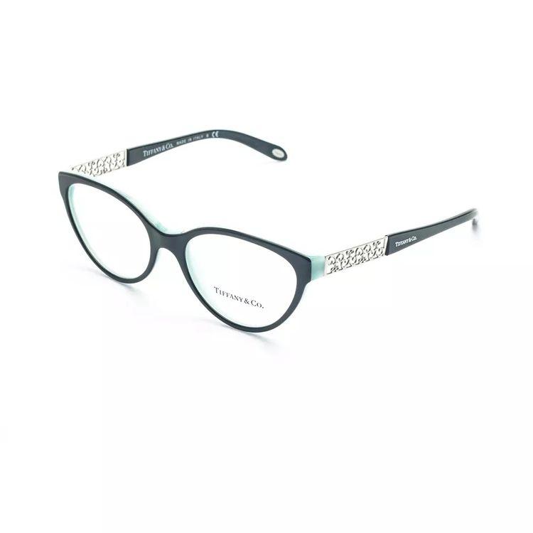 dddf6915f518d Oculos de Grau Tiffany 2129 Preto Turquesa - oticaswanny
