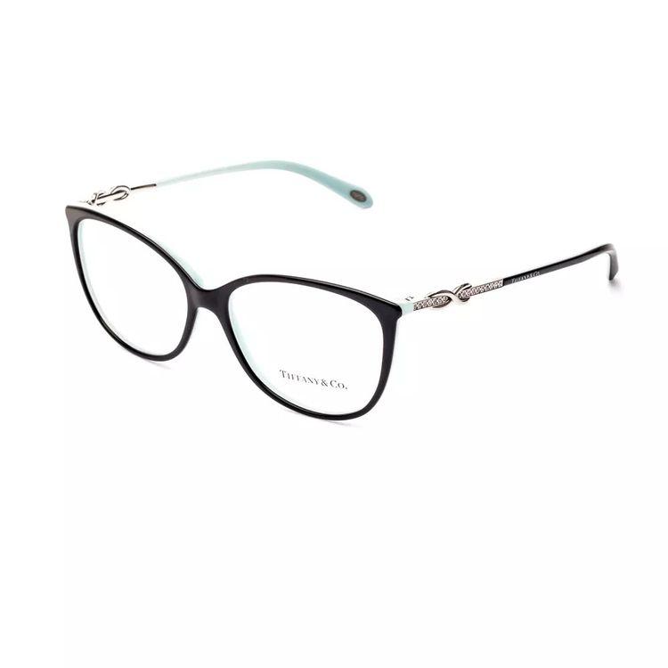 f6385ff0d Oculos de Grau Tiffany Infinity 2143 Preto com Azul Original ...