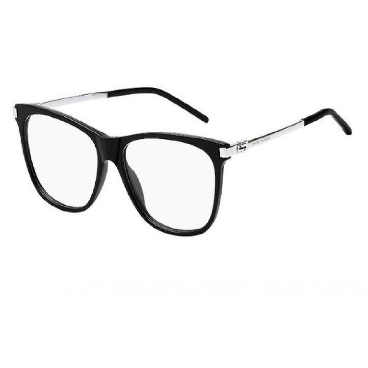 d39c69f2d1b3d Oculos de Grau Marc Jacobs 144 Preto Prata - oticaswanny