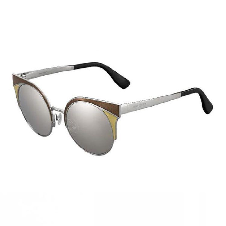 d86fd9cb8eda0 Oculos de Sol Jimmy Choo Ora Bronze Prata Espelhado Original ...