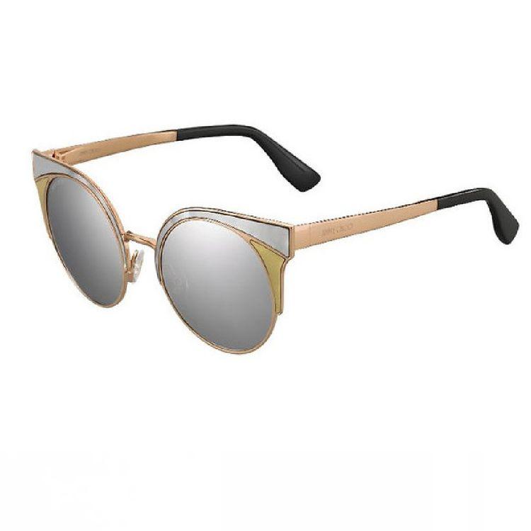 Oculos de Sol Jimmy Choo Ora Prata Espelhado Original - oticaswanny ed1295cac3