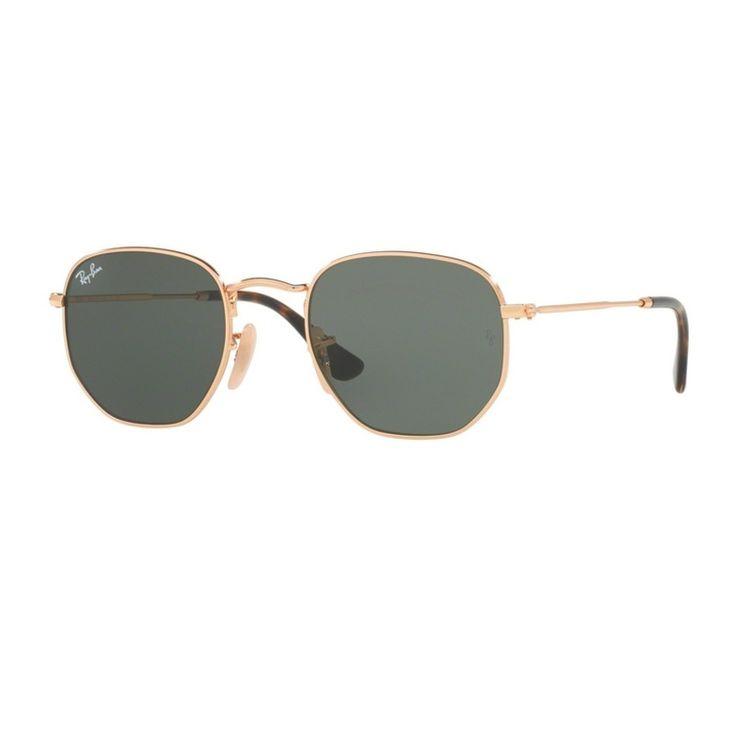 Ray Ban Hexagonal 3548N 001 Oculos de Sol Original - oticaswanny 961b4ef00f