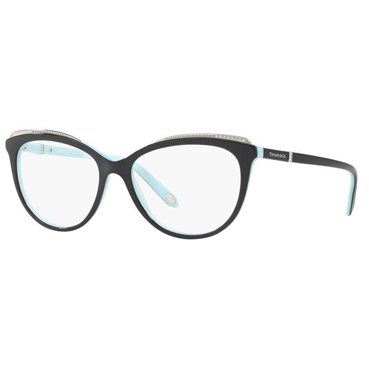 8de66c74e Oculos de grau Tiffany 2147B Preto Strass original - oticaswanny