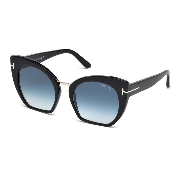 7bbf574fd7ddc Oculos de Sol Tom Ford Samantha 553 Preto Azul - oticaswanny