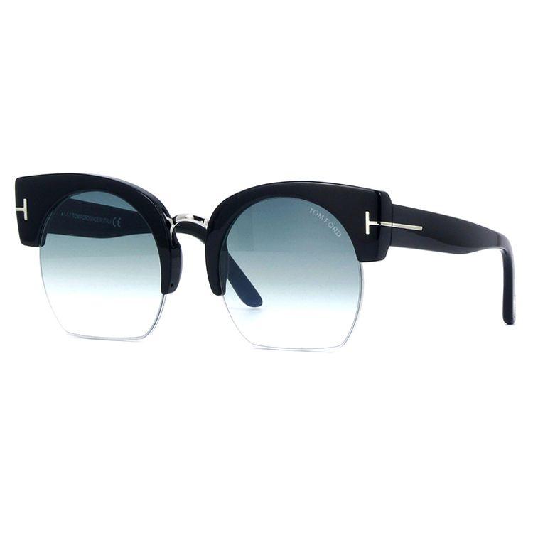 9818e98e66fad Oculos de Sol Tom Ford Savannah 552 Preto Azul - oticaswanny