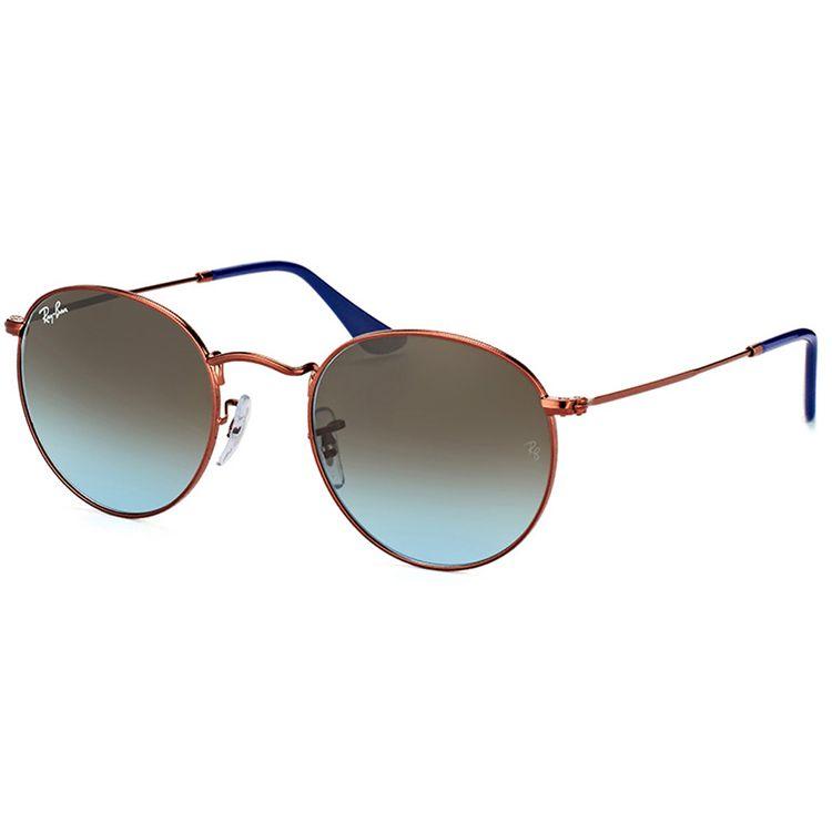 b3f024a9aca8d Oculos de Sol Ray Ban Round 3447 Bronze Azul Degrade - oticaswanny