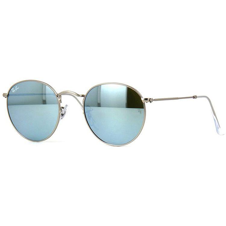 Oculos de Sol Ray Ban Round Prata Espelhado - oticaswanny d3fa81f8a90a