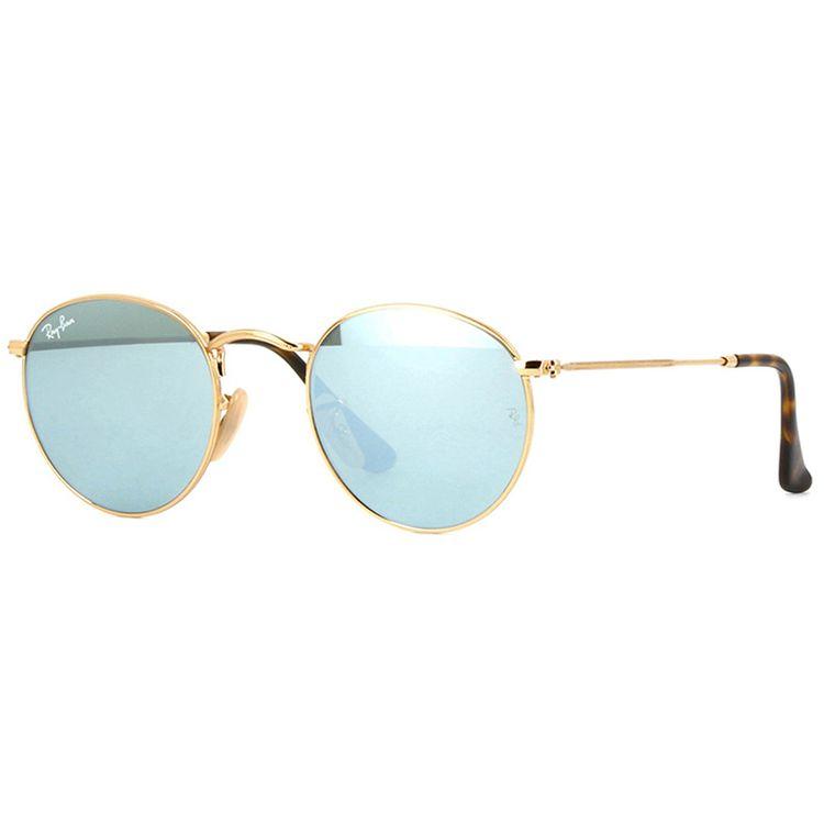 Oculos de Sol Ray Ban Round 3447N Prata Espelhado - wanny 595a60c11e