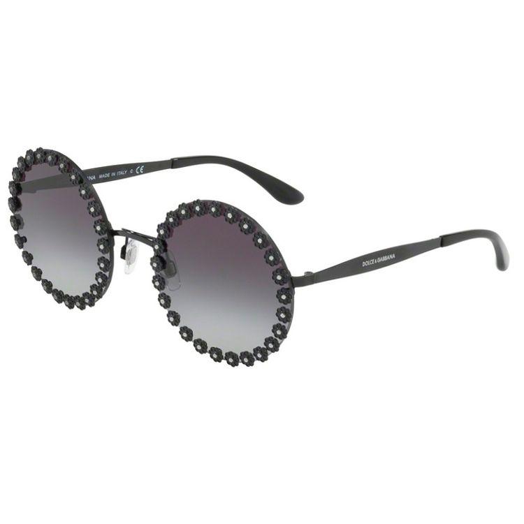 b2f043ff27f13 Oculos de Sol Dolce Gabbana Daisy 2173B Preto - oticaswanny