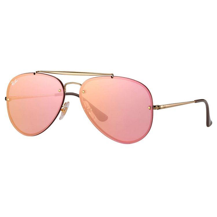 77af665976 Oculos Ray Ban Blaze Aviador 3584N Espelhado Rosa - oticaswanny