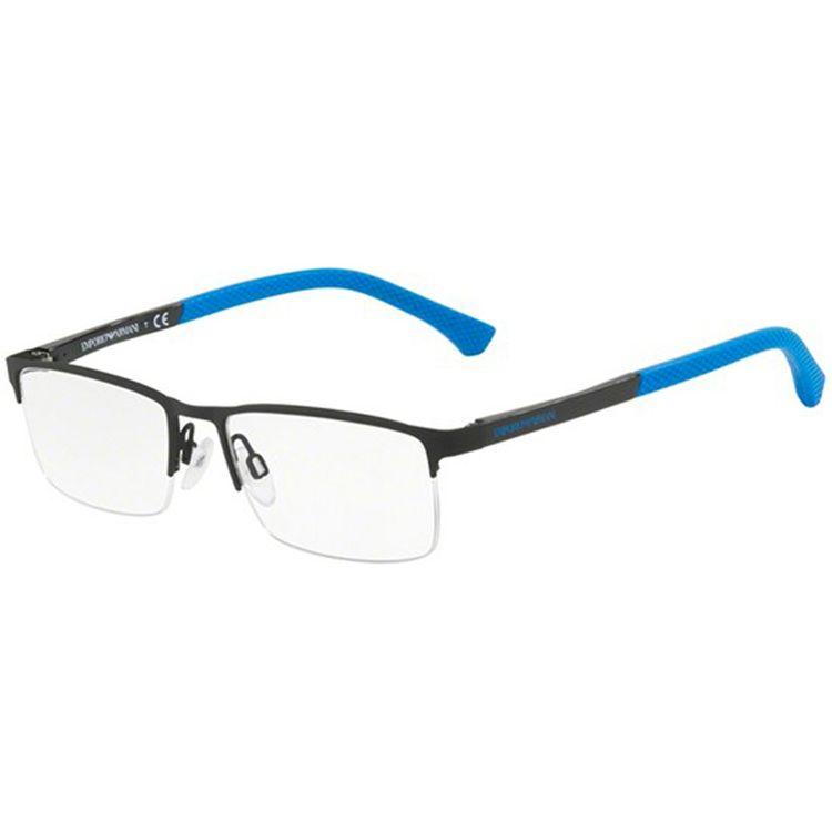 a6f7ddc66be19 Oculos de Grau Emporio Armani 1041 Preto Azul - oticaswanny