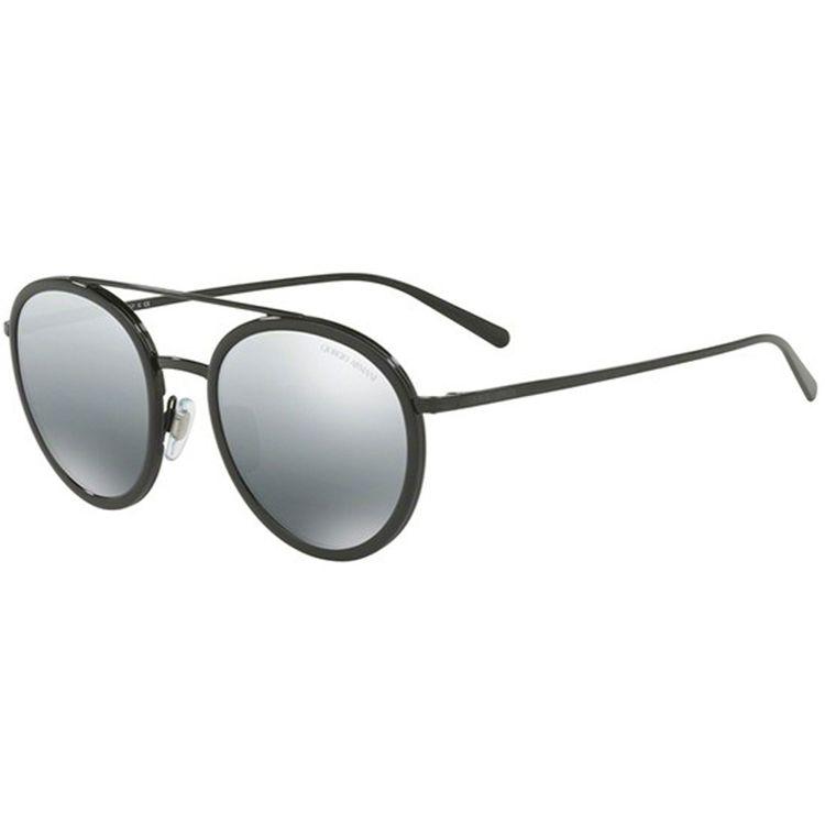 a84da2de3e40d Oculos de Sol Giorgio Armani 6051 Preto Espelhado Prata - oticaswanny