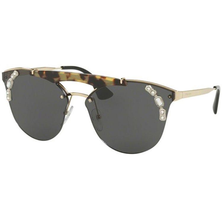 54b0db0a725b2 Oculos de Sol Prada Absolute Ornate 53UV Cinza Havana - oticaswanny