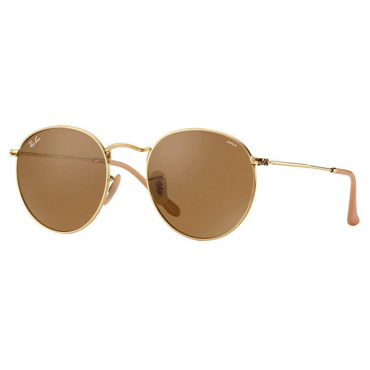 Oculos Ray Ban Round Evolve 3447 Marrom - oticaswanny e326917618