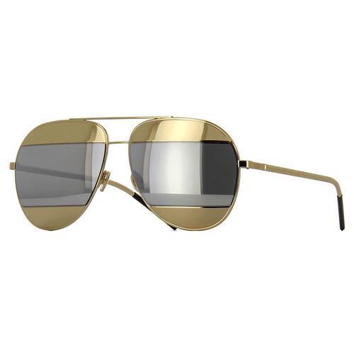 Oculos Dior Split Dourado com Prata - oticaswanny bb815cd048