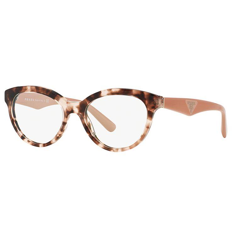 b3f270820d914 Oculos de Grau Prada 11RV Havana Rosa - oticaswanny