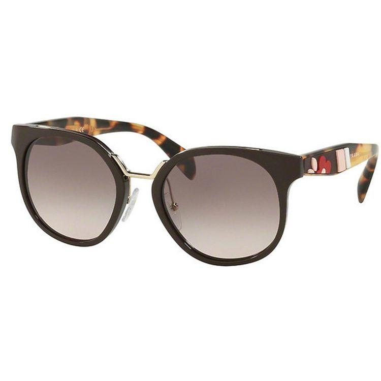 300d2dc49 Oculos de sol Prada 17TS Marrom Flores Original - oticaswanny