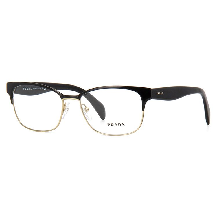 2c00ad6dda953 Oculos de Grau Prada 65RV Preto Dourado Original - oticaswanny