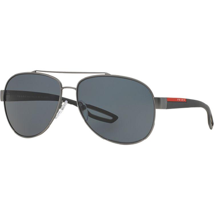 5c3c139e5 Oculos Aviador Prada Sport 55QS Grafite Polarizado - oticaswanny