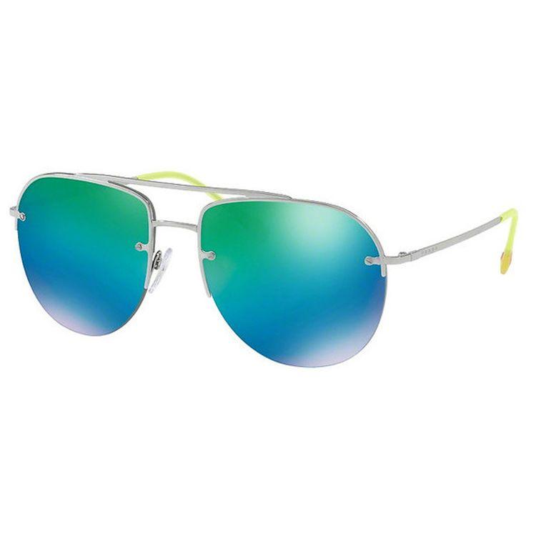 b513f3a06aabb Oculos Prada Sport 53SS Espelhado Verde Azul - oticaswanny