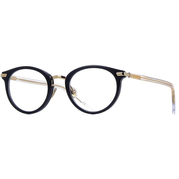 bdeb24510 Oculos de Grau Dior Essence 2 Preto com Dourado - wanny