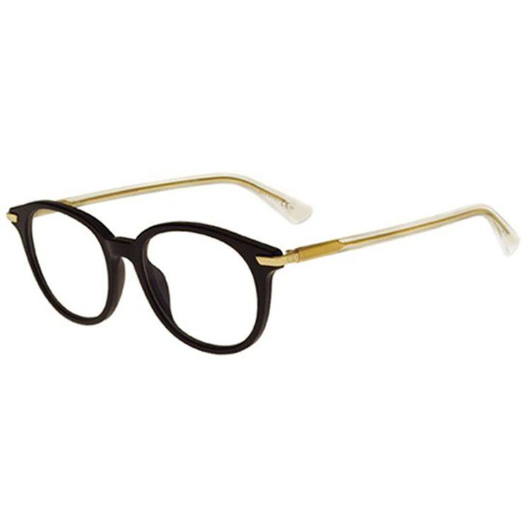 Oculos de Grau Dior Essence 1 Preto com Dourado - oticaswanny a4e4d60f60