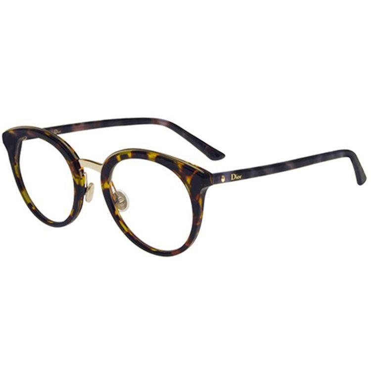 9026e642a Oculos de Grau Dior Montaigne 48 Havana - oticaswanny