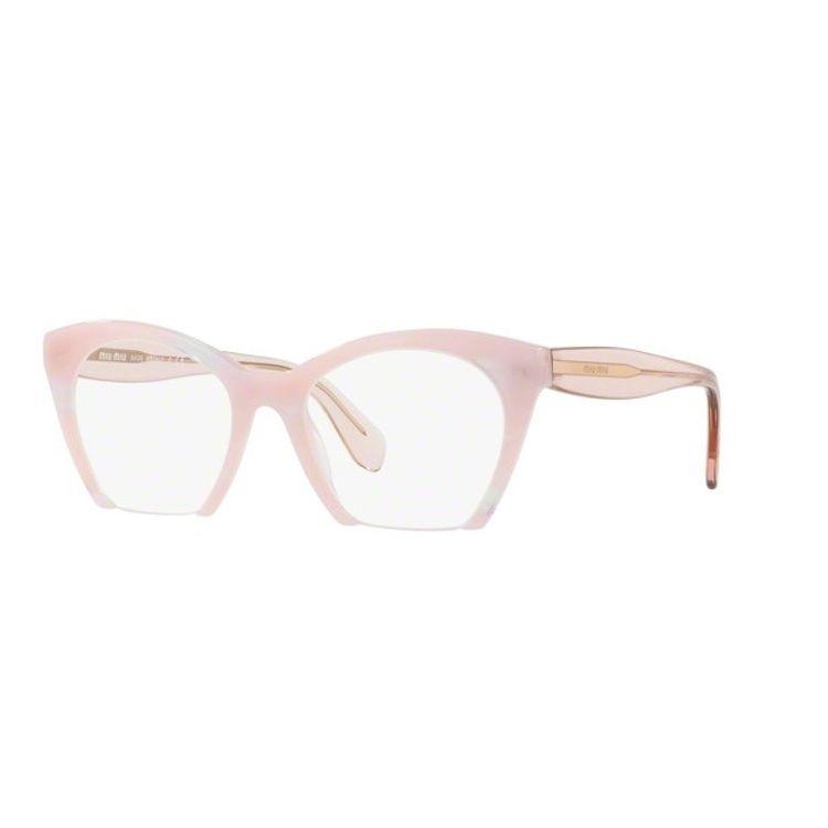 b556ef2c2ec6a Miu Miu 03QV SQT1O1 Oculos de Grau Original - wanny
