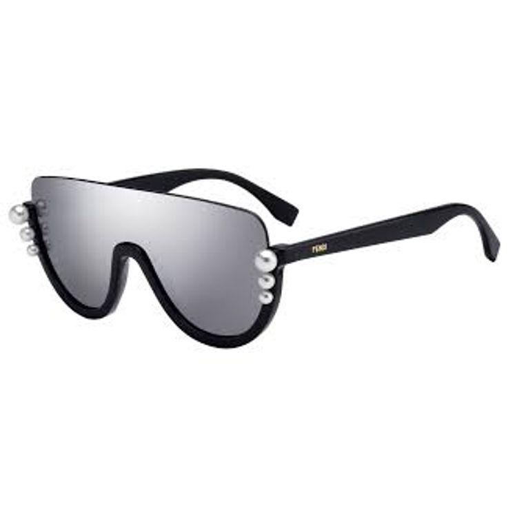 4126dc916938b Fendi Ribbons   Pearls 296 KB70T - Oculos de Sol - Fendi 296 KB70T - Oculos  de Sol