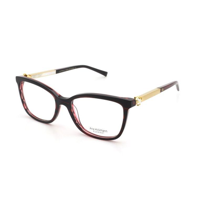 7a837b4054701 Ana Hickmann PARIS II WINE Oculos de grau Original - oticaswanny